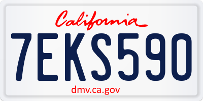 CA license plate 7EKS590