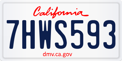 CA license plate 7HWS593