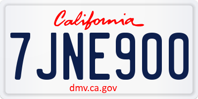 CA license plate 7JNE900