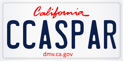 CA license plate CCASPAR