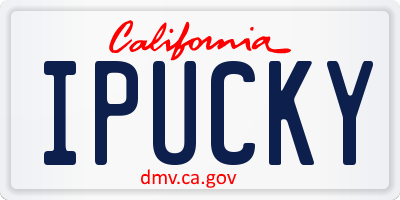 CA license plate IPUCKY
