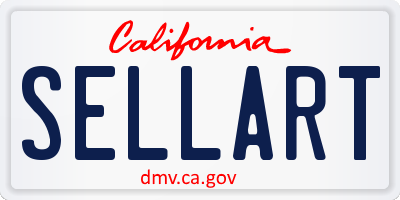 CA license plate SELLART