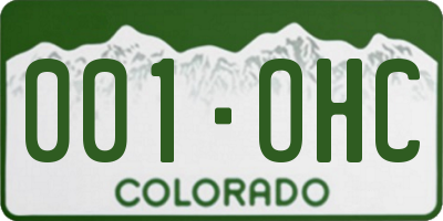 CO license plate 001OHC