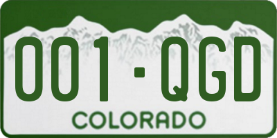 CO license plate 001QGD