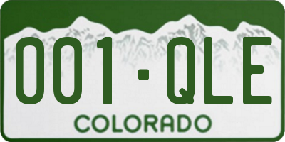 CO license plate 001QLE