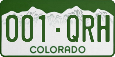 CO license plate 001QRH