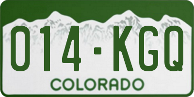 CO license plate 014KGQ