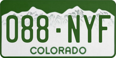 CO license plate 088NYF