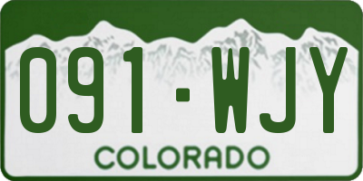 CO license plate 091WJY