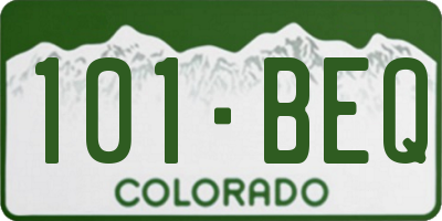 CO license plate 101BEQ