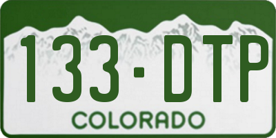 CO license plate 133DTP