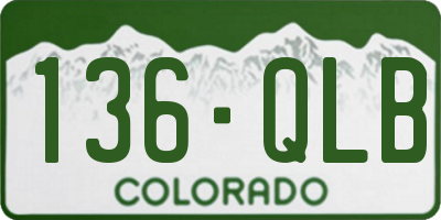 CO license plate 136QLB