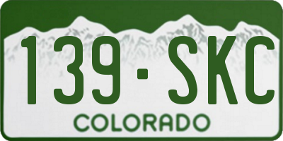 CO license plate 139SKC