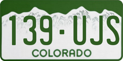 CO license plate 139UJS