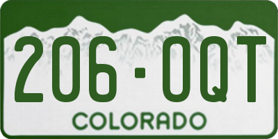 CO license plate 206OQT