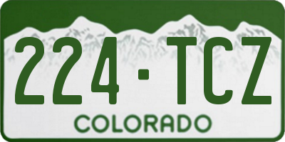 CO license plate 224TCZ