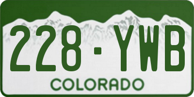 CO license plate 228YWB
