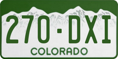 CO license plate 270DXI