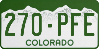 CO license plate 270PFE