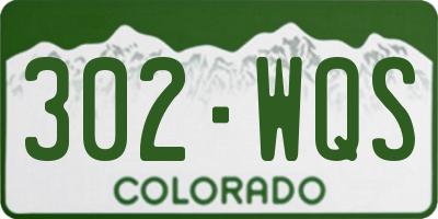 CO license plate 302WQS