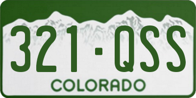 CO license plate 321QSS