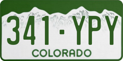 CO license plate 341YPY
