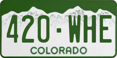 CO license plate 420WHE