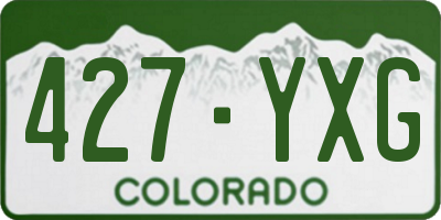 CO license plate 427YXG