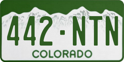 CO license plate 442NTN