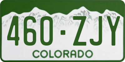 CO license plate 460ZJY
