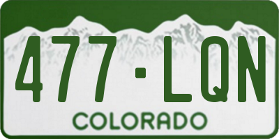 CO license plate 477LQN