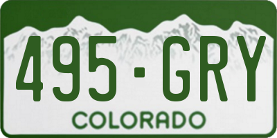 CO license plate 495GRY