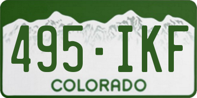 CO license plate 495IKF