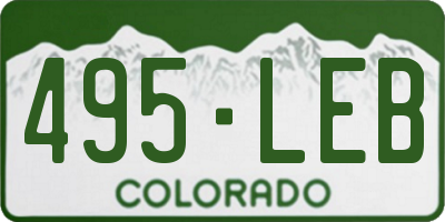 CO license plate 495LEB
