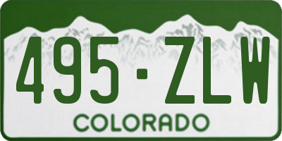 CO license plate 495ZLW
