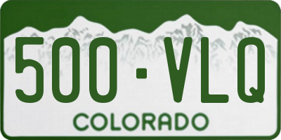 CO license plate 500VLQ