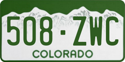 CO license plate 508ZWC