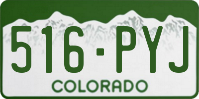 CO license plate 516PYJ