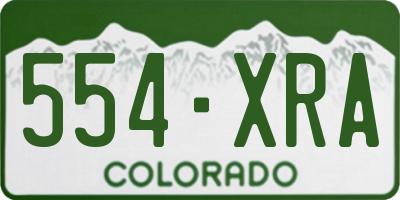 CO license plate 554XRA