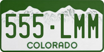CO license plate 555LMM