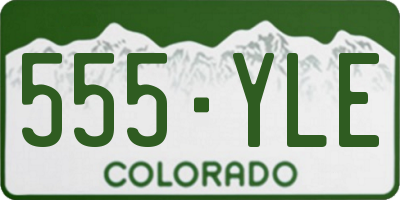 CO license plate 555YLE