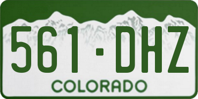 CO license plate 561DHZ