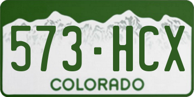 CO license plate 573HCX