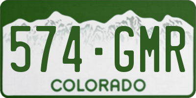 CO license plate 574GMR