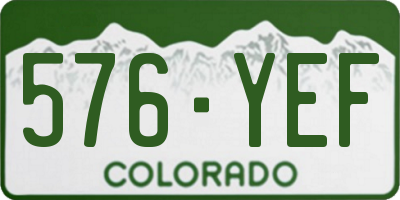 CO license plate 576YEF