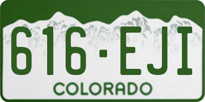 CO license plate 616EJI