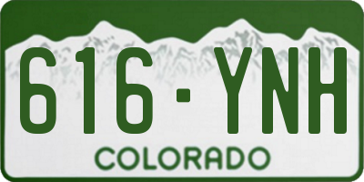 CO license plate 616YNH