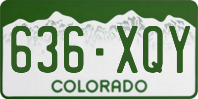 CO license plate 636XQY