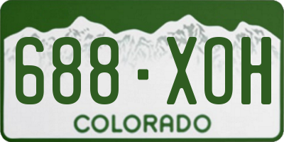 CO license plate 688XOH