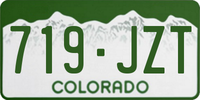 CO license plate 719JZT